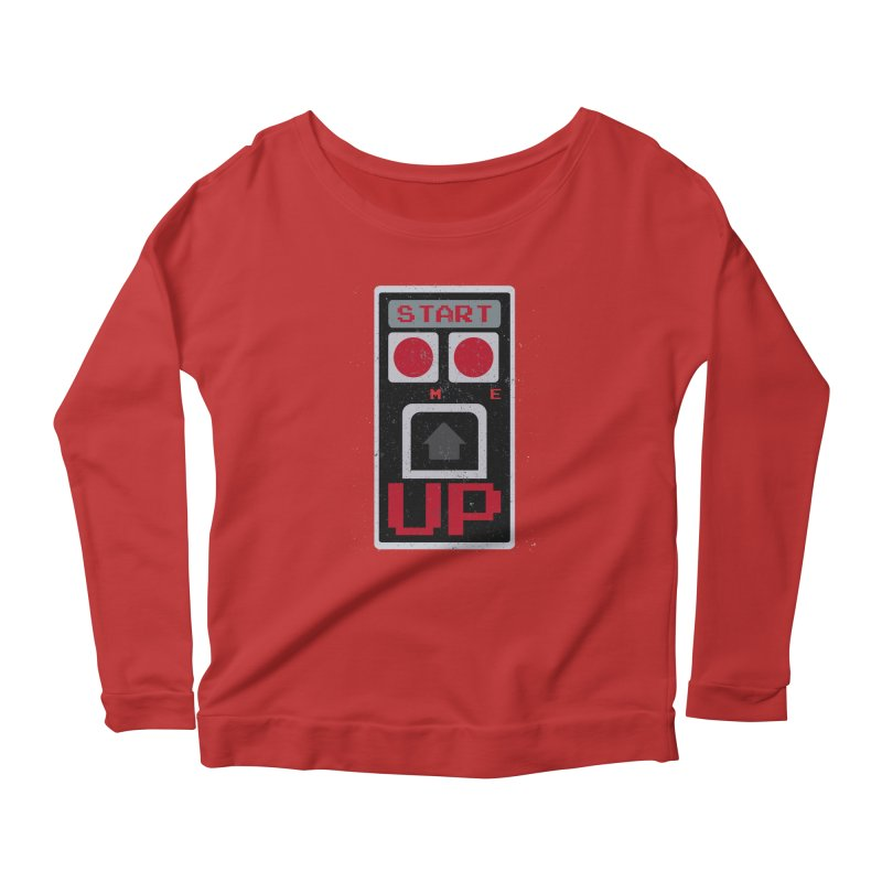 START ME Women's Longsleeve Scoopneck  by Japiboy's Artist Shop