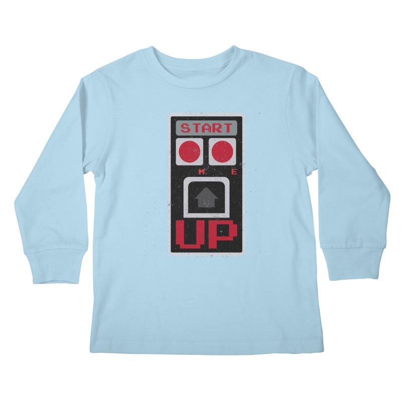 START ME Kids Longsleeve T-Shirt by Japiboy's Artist Shop