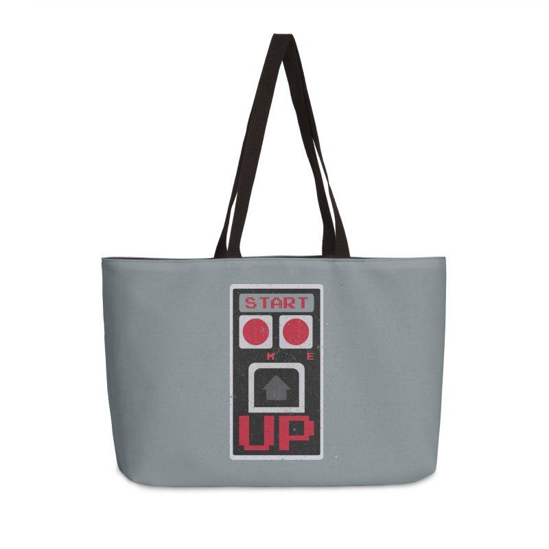 START ME in Weekender Bag by Japiboy's Artist Shop