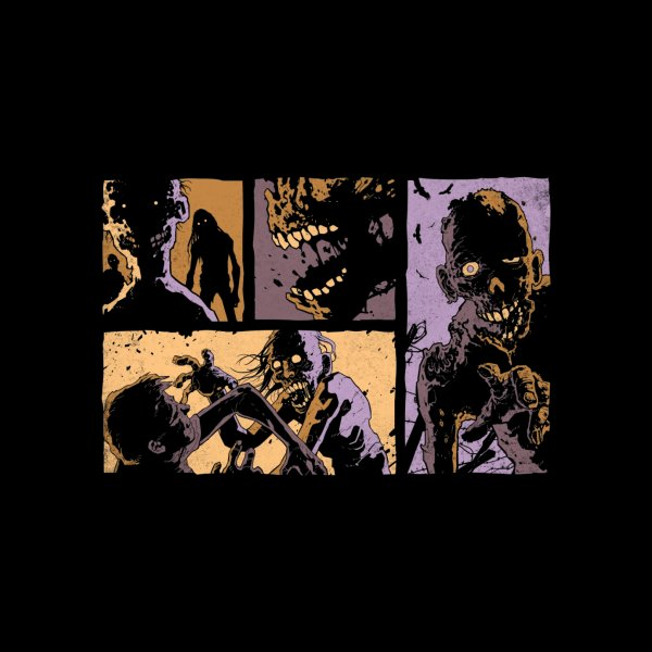 image for Undead Panels - Horror T Shirt