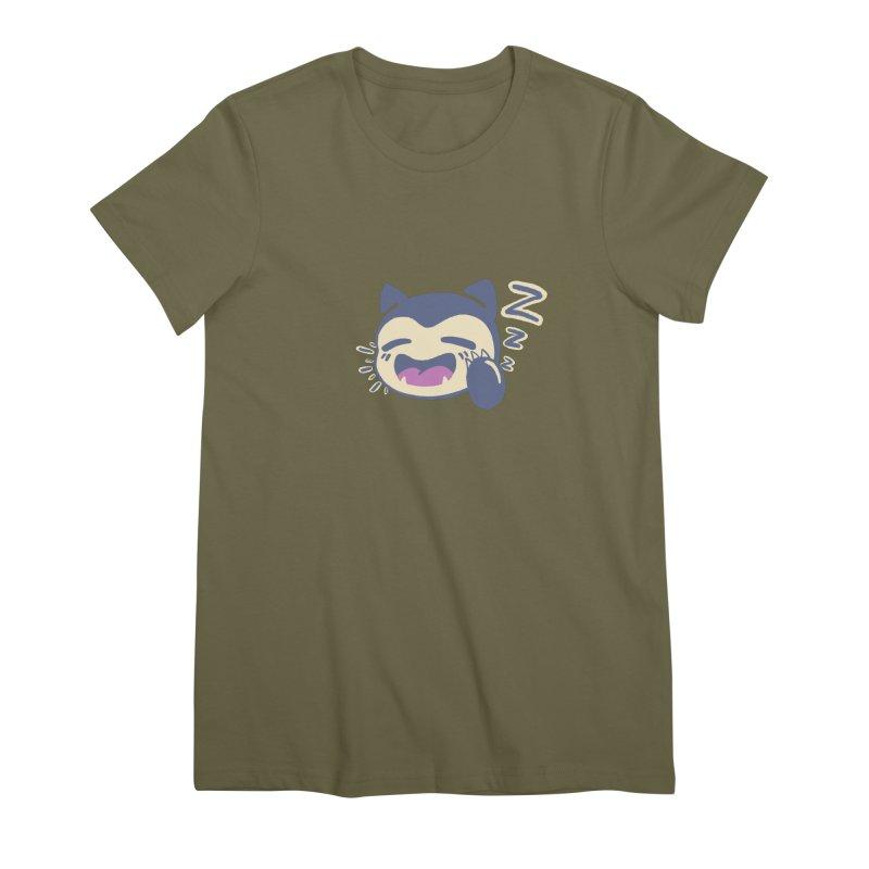 Sleepy Snorlax Women's Premium T-Shirt by jaredslyterdesign's Artist Shop