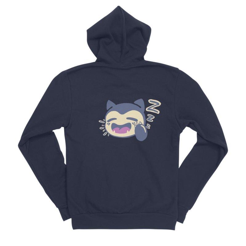 Sleepy Snorlax Women's Sponge Fleece Zip-Up Hoody by jaredslyterdesign's Artist Shop
