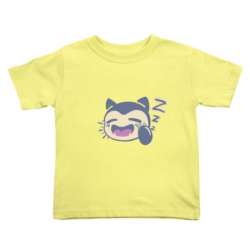 Sleepy Snorlax Kids Toddler T-Shirt by jaredslyterdesign's Artist Shop