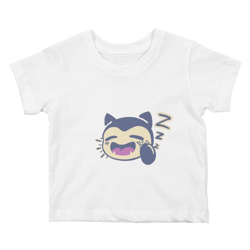 Sleepy Snorlax Kids Baby T-Shirt by jaredslyterdesign's Artist Shop
