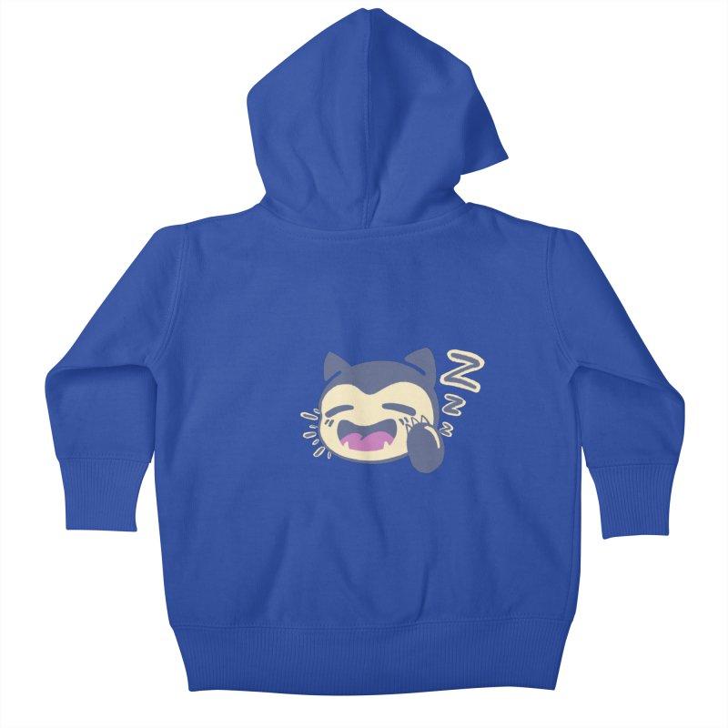 Sleepy Snorlax Kids Baby Zip-Up Hoody by jaredslyterdesign's Artist Shop