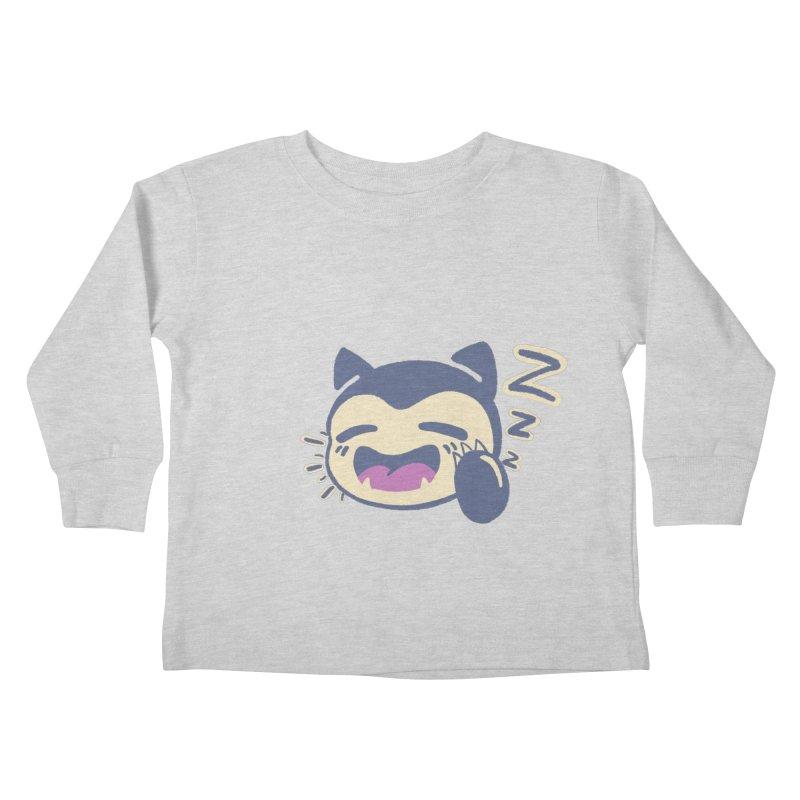 Sleepy Snorlax Kids Toddler Longsleeve T-Shirt by jaredslyterdesign's Artist Shop