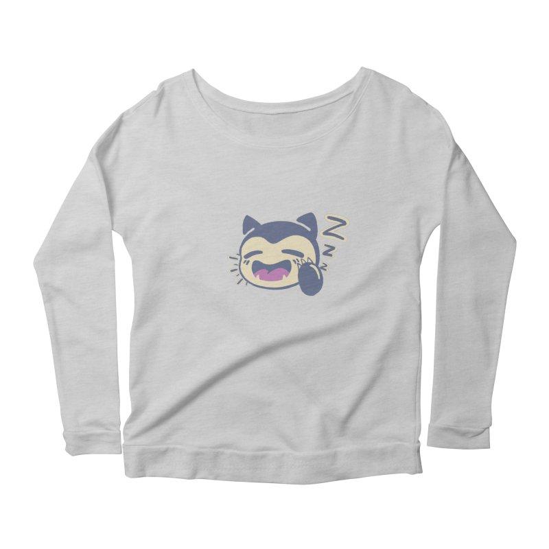 Sleepy Snorlax Women's Scoop Neck Longsleeve T-Shirt by jaredslyterdesign's Artist Shop
