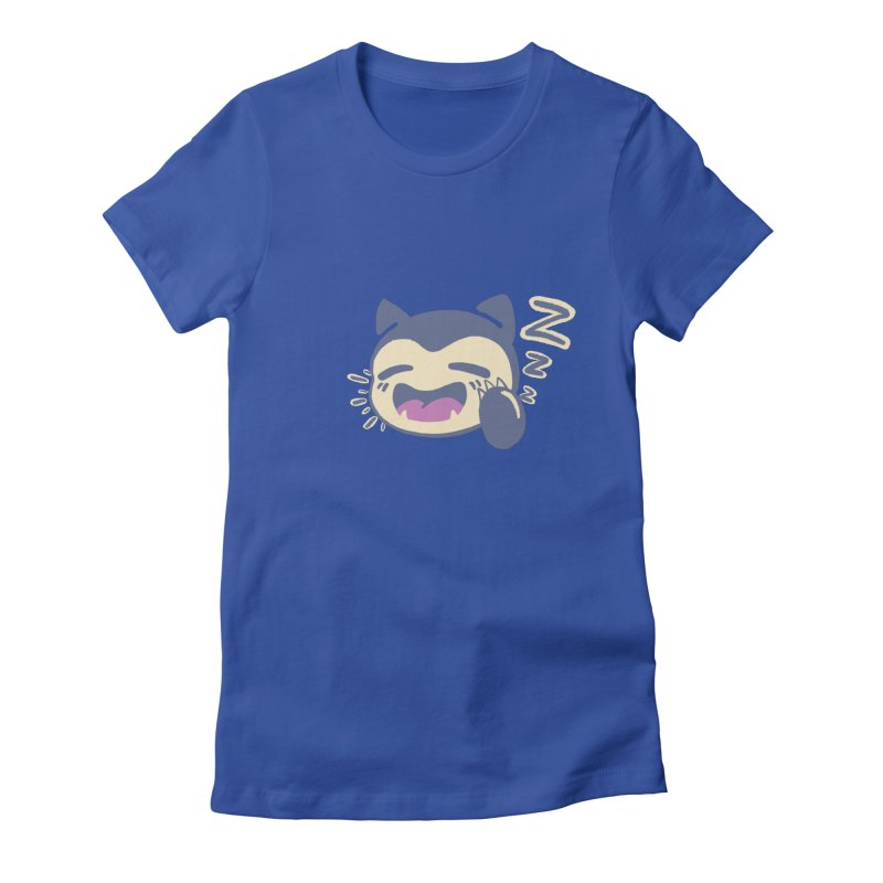 Sleepy Snorlax Women's Fitted T-Shirt by jaredslyterdesign's Artist Shop