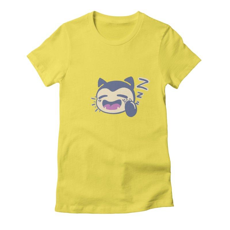 Sleepy Snorlax Women's Fitted T-Shirt by jaredslyterdesign's Artist Shop