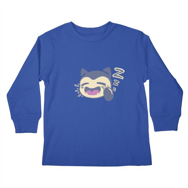Sleepy Snorlax Kids Longsleeve T-Shirt by jaredslyterdesign's Artist Shop