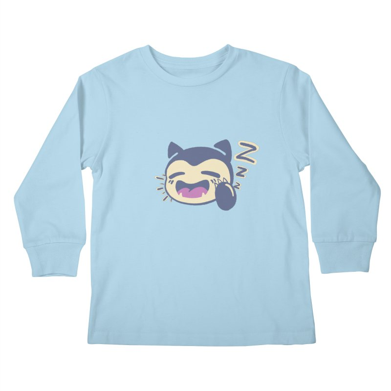 Sleepy Snorlax Kids Longsleeve T-Shirt by jaredslyterdesign's Artist Shop