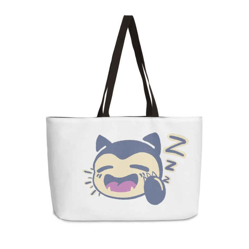 Sleepy Snorlax Accessories Weekender Bag Bag by jaredslyterdesign's Artist Shop