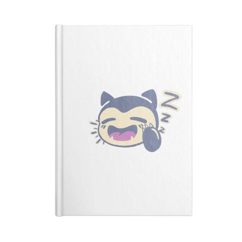 Sleepy Snorlax Accessories Lined Journal Notebook by jaredslyterdesign's Artist Shop