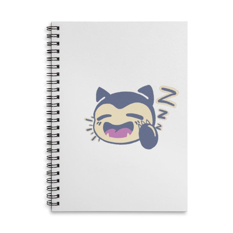 Sleepy Snorlax Accessories Lined Spiral Notebook by jaredslyterdesign's Artist Shop