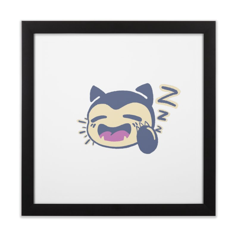 Sleepy Snorlax Home Framed Fine Art Print by jaredslyterdesign's Artist Shop