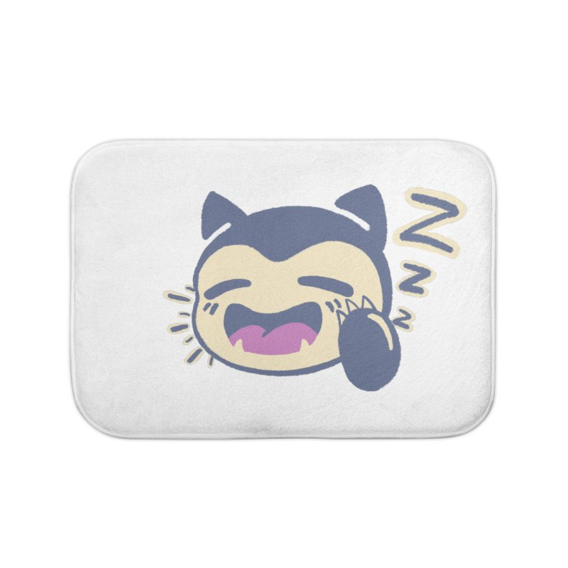 Sleepy Snorlax Home Bath Mat by jaredslyterdesign's Artist Shop