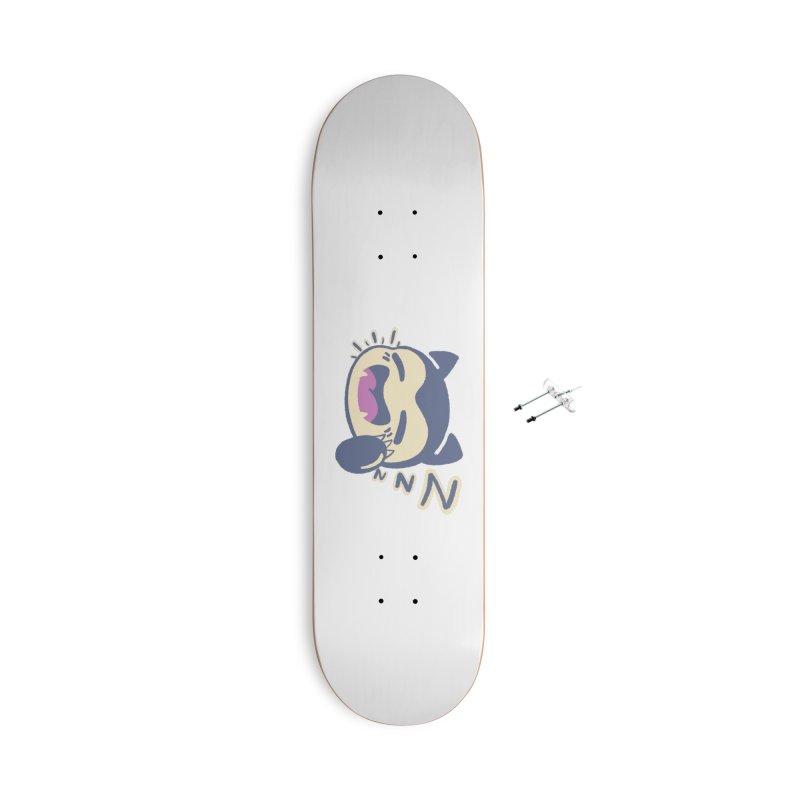 Sleepy Snorlax Accessories Skateboard by jaredslyterdesign's Artist Shop