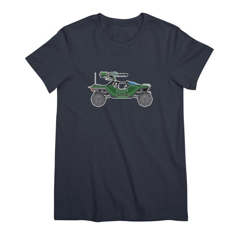 The Ultimate Ride: Halo Master Chief Warthog Women's Premium T-Shirt by jaredslyterdesign's Artist Shop