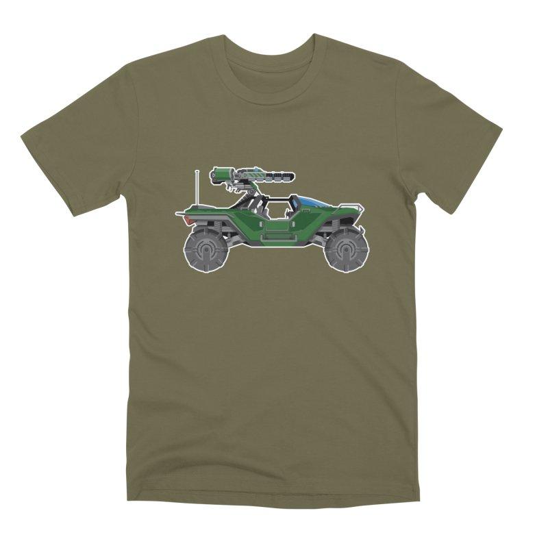 The Ultimate Ride: Halo Master Chief Warthog Men's Premium T-Shirt by jaredslyterdesign's Artist Shop