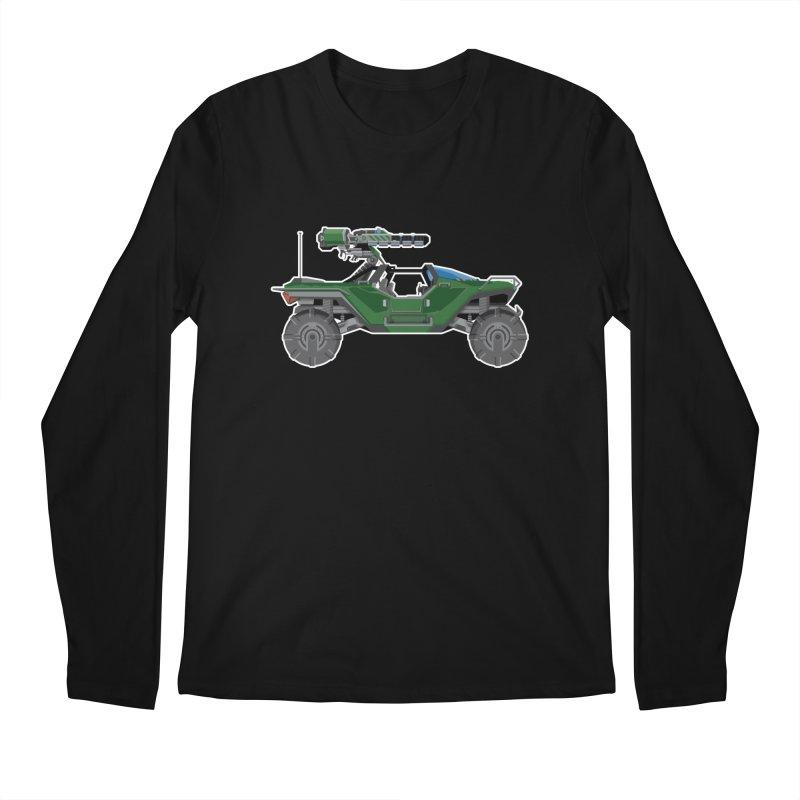 The Ultimate Ride: Halo Master Chief Warthog Men's Regular Longsleeve T-Shirt by jaredslyterdesign's Artist Shop