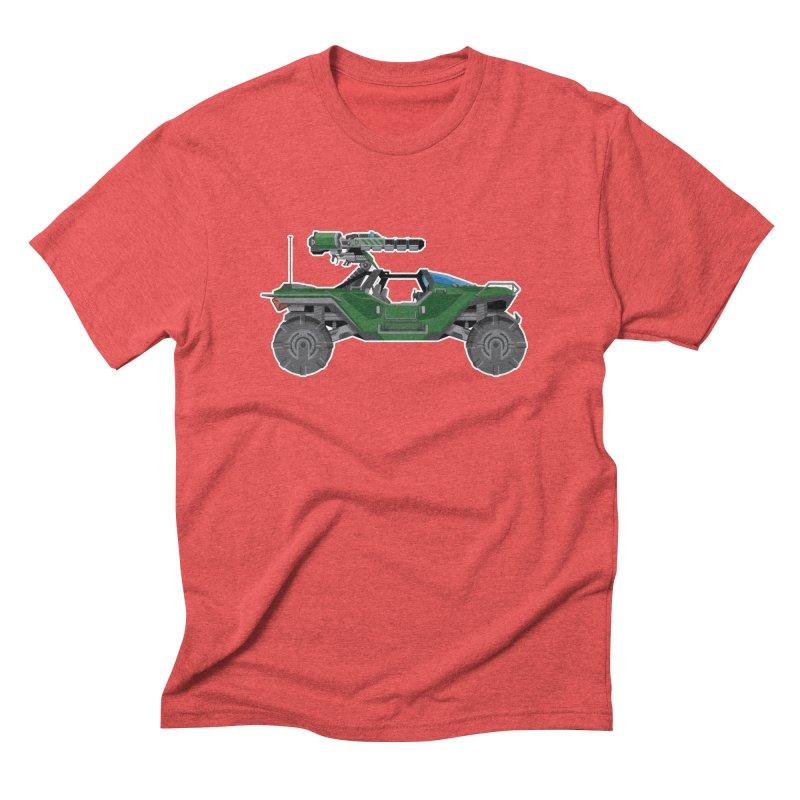 The Ultimate Ride: Halo Master Chief Warthog Men's Triblend T-Shirt by jaredslyterdesign's Artist Shop