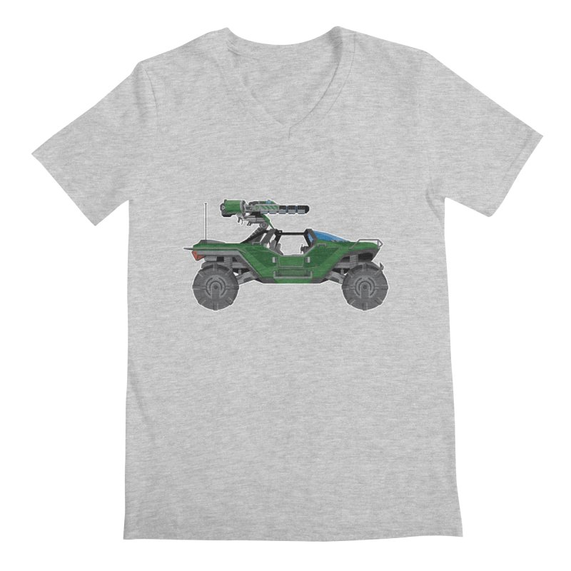 The Ultimate Ride: Halo Master Chief Warthog Men's Regular V-Neck by jaredslyterdesign's Artist Shop