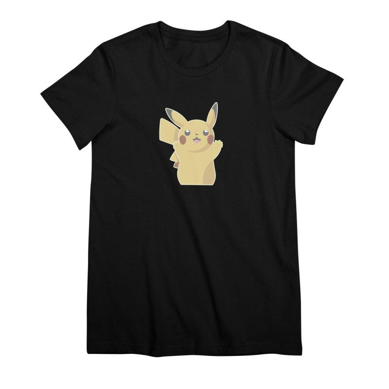Let's Go Pikachu Pokemon Women's Premium T-Shirt by jaredslyterdesign's Artist Shop