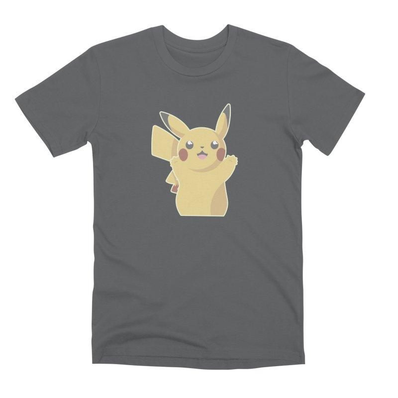 Let's Go Pikachu Pokemon Men's Premium T-Shirt by jaredslyterdesign's Artist Shop