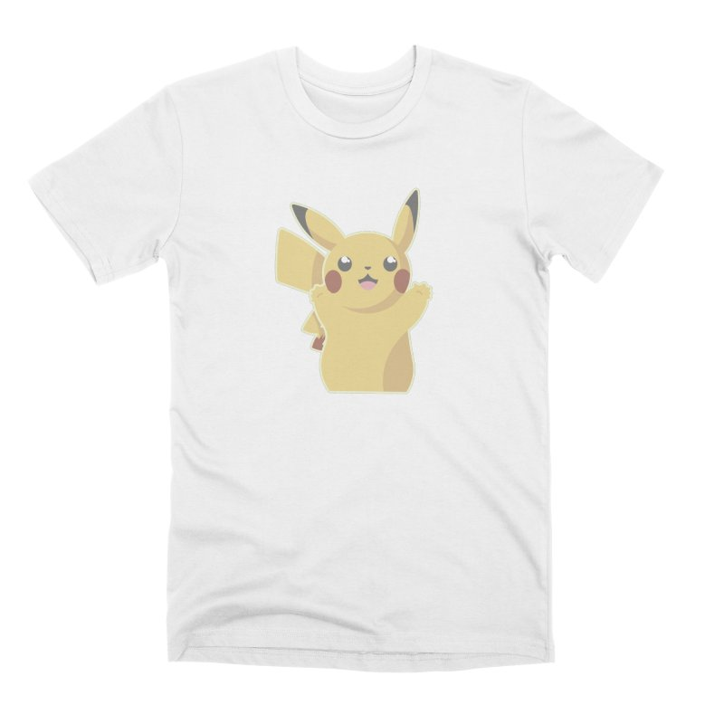 Let's Go Pikachu Pokemon Men's Premium T-Shirt by jaredslyterdesign's Artist Shop