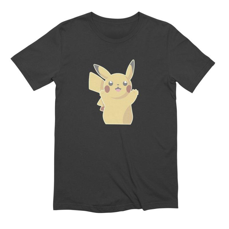 Let's Go Pikachu Pokemon Men's Extra Soft T-Shirt by jaredslyterdesign's Artist Shop