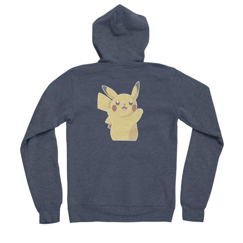 Let's Go Pikachu Pokemon Men's Sponge Fleece Zip-Up Hoody by jaredslyterdesign's Artist Shop
