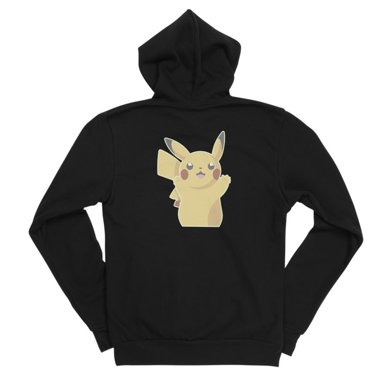 Let's Go Pikachu Pokemon Men's Sponge Fleece Zip-Up Hoody by jaredslyterdesign's Artist Shop