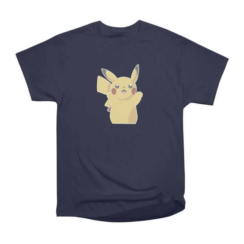 Let's Go Pikachu Pokemon Women's Heavyweight Unisex T-Shirt by jaredslyterdesign's Artist Shop