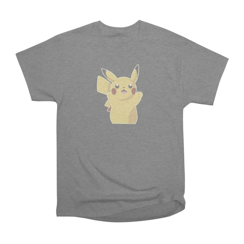 Let's Go Pikachu Pokemon Men's Heavyweight T-Shirt by jaredslyterdesign's Artist Shop