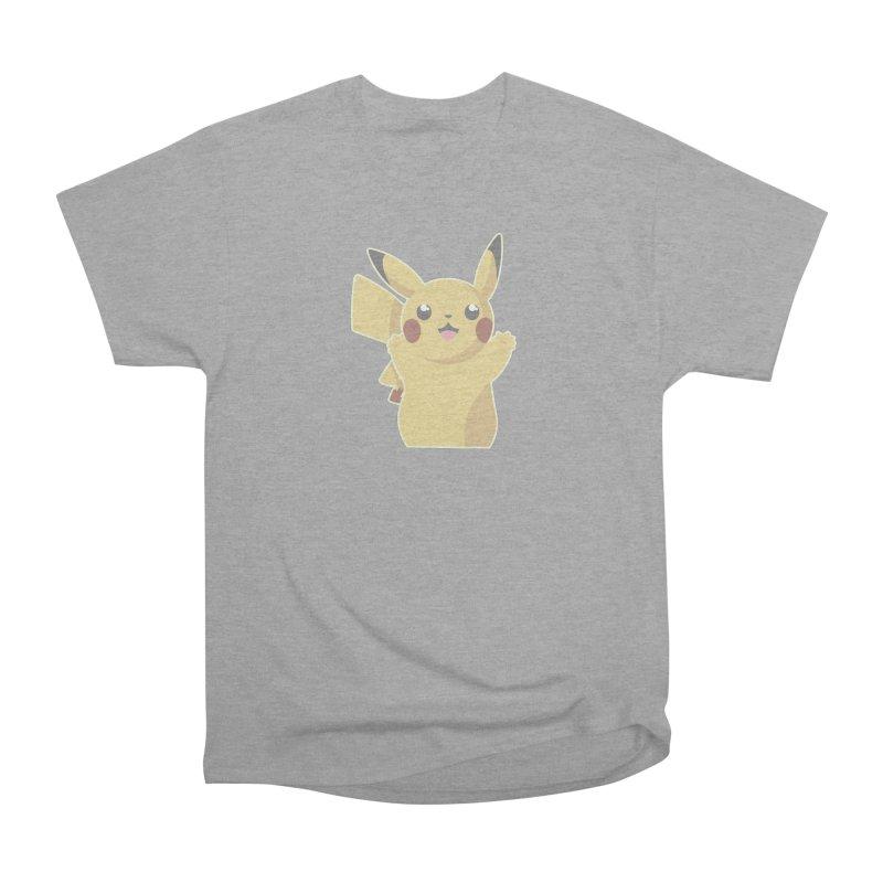 Let's Go Pikachu Pokemon Men's Heavyweight T-Shirt by jaredslyterdesign's Artist Shop