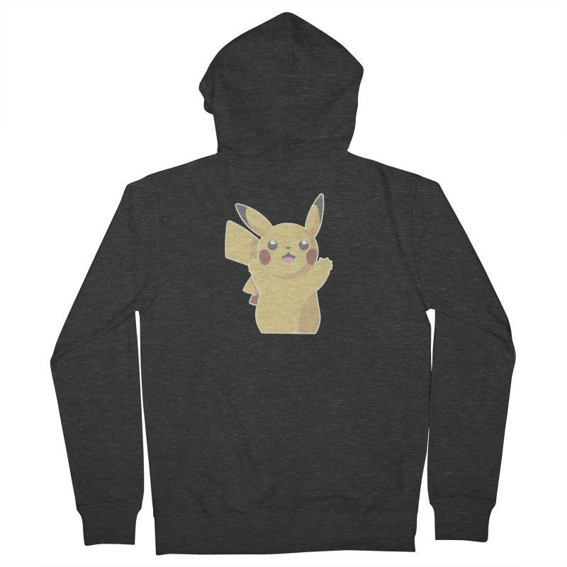 Let's Go Pikachu Pokemon Men's French Terry Zip-Up Hoody by jaredslyterdesign's Artist Shop