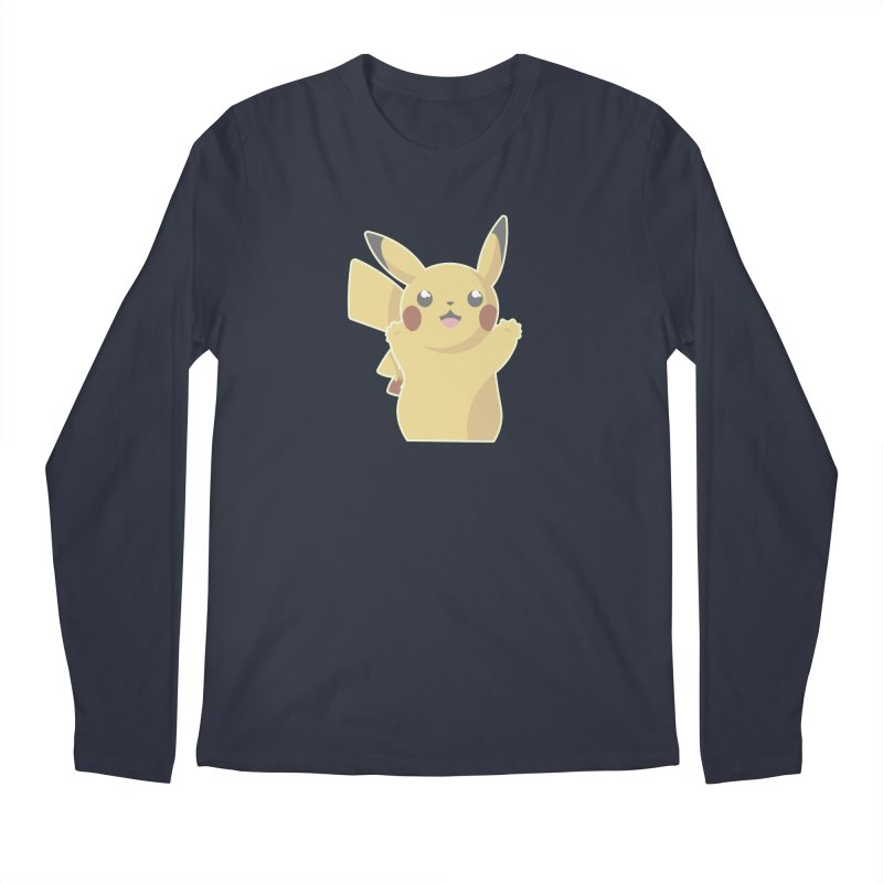 Let's Go Pikachu Pokemon Men's Regular Longsleeve T-Shirt by jaredslyterdesign's Artist Shop
