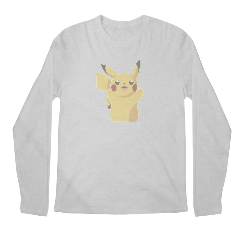Let's Go Pikachu Pokemon Men's Regular Longsleeve T-Shirt by jaredslyterdesign's Artist Shop