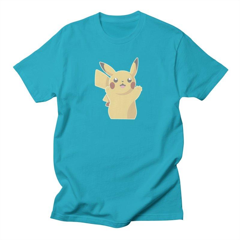 Let's Go Pikachu Pokemon Women's Regular Unisex T-Shirt by jaredslyterdesign's Artist Shop
