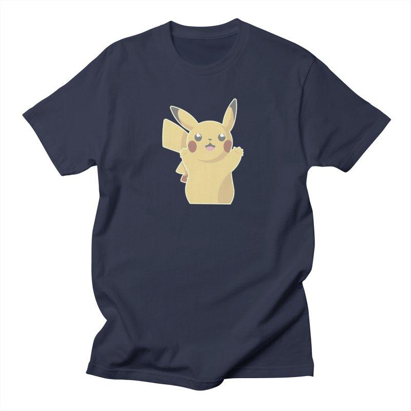 Let's Go Pikachu Pokemon Men's Regular T-Shirt by jaredslyterdesign's Artist Shop