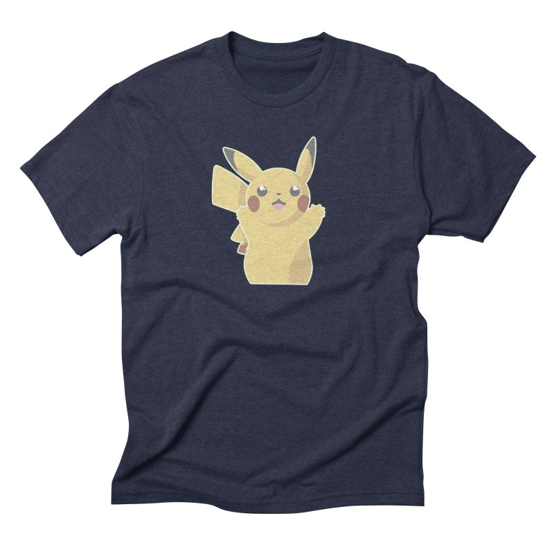 Let's Go Pikachu Pokemon Men's Triblend T-Shirt by jaredslyterdesign's Artist Shop