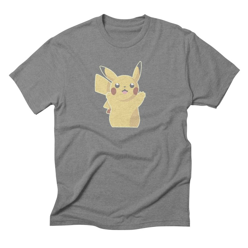 Let's Go Pikachu Pokemon Men's Triblend T-Shirt by jaredslyterdesign's Artist Shop