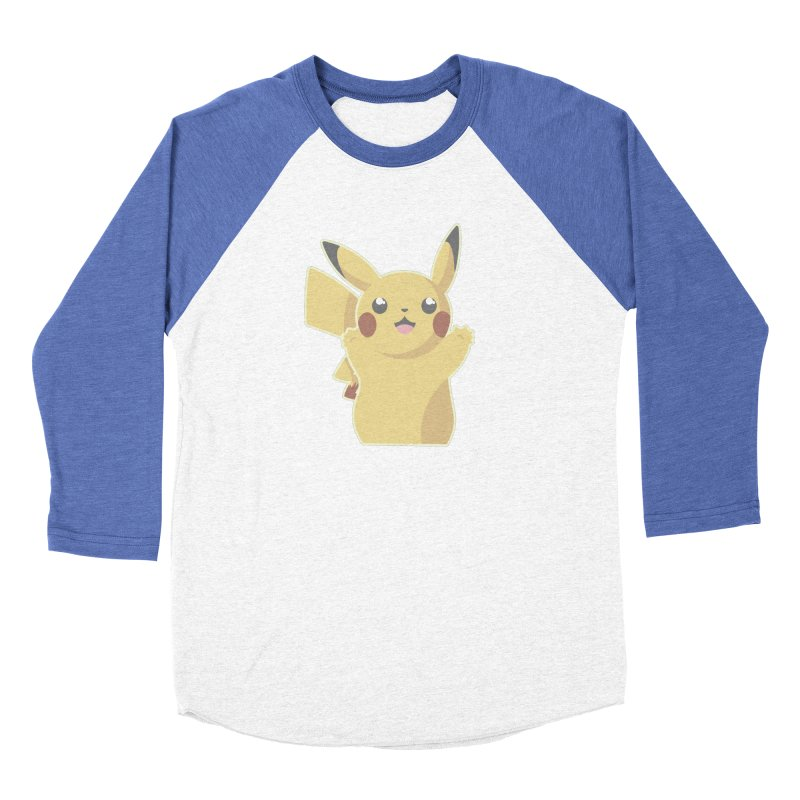 Let's Go Pikachu Pokemon Women's Baseball Triblend Longsleeve T-Shirt by jaredslyterdesign's Artist Shop