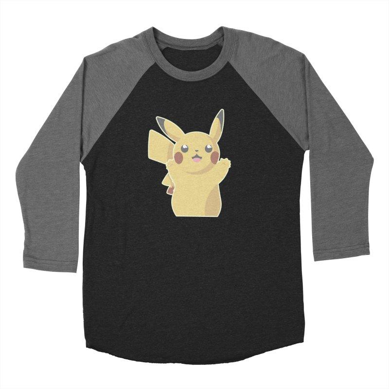 Let's Go Pikachu Pokemon Women's Baseball Triblend Longsleeve T-Shirt by jaredslyterdesign's Artist Shop