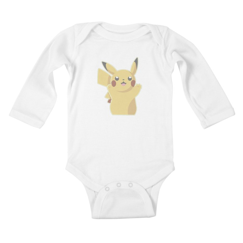 Let's Go Pikachu Pokemon Kids Baby Longsleeve Bodysuit by jaredslyterdesign's Artist Shop