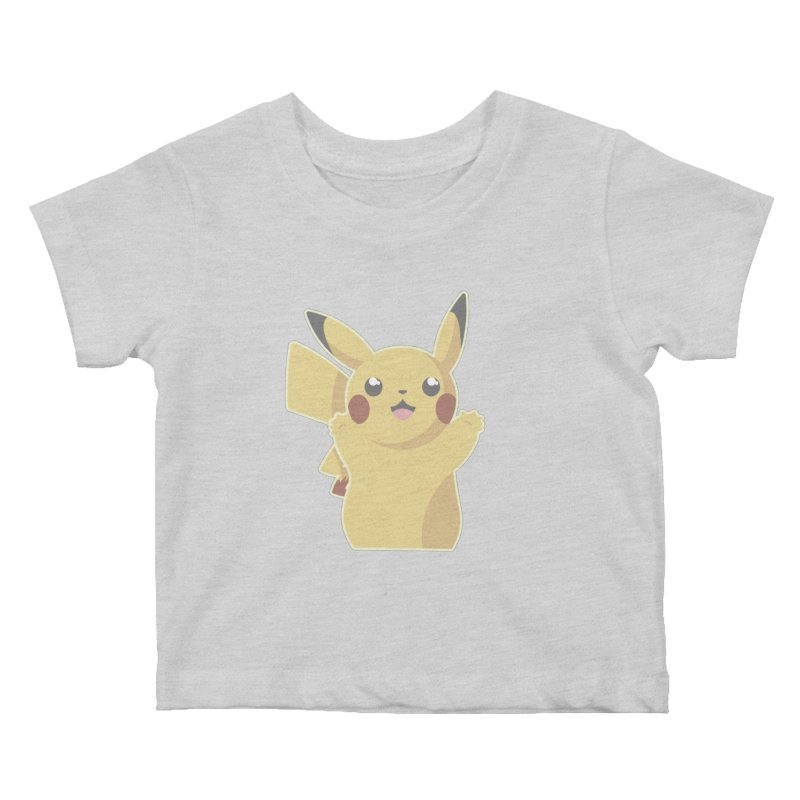 Let's Go Pikachu Pokemon Kids Baby T-Shirt by jaredslyterdesign's Artist Shop