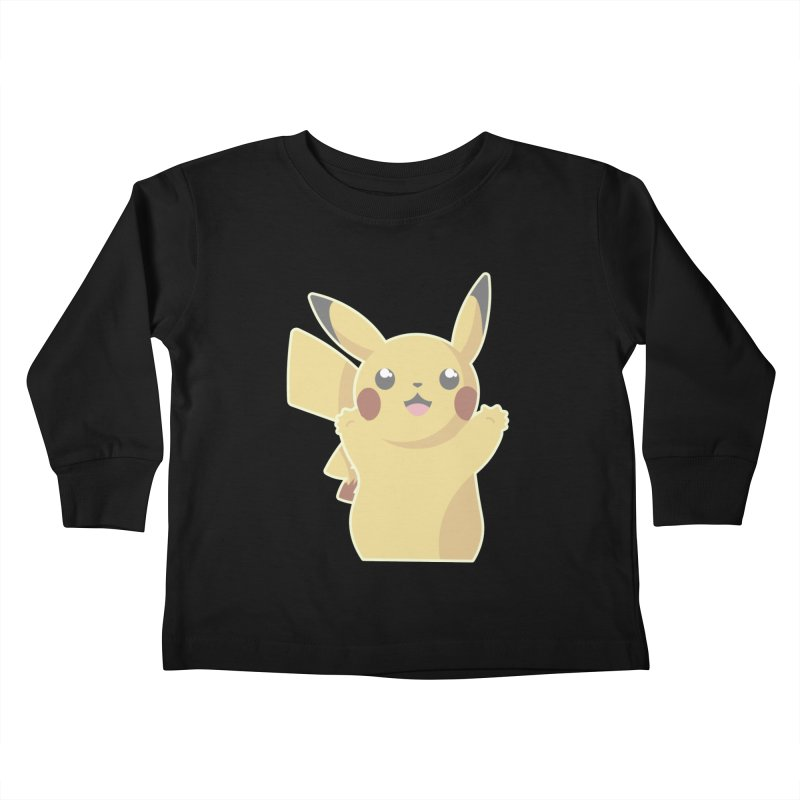 Let's Go Pikachu Pokemon Kids Toddler Longsleeve T-Shirt by jaredslyterdesign's Artist Shop