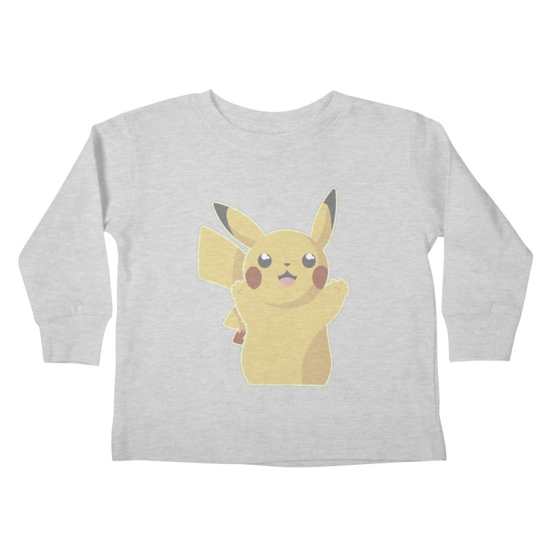 Let's Go Pikachu Pokemon Kids Toddler Longsleeve T-Shirt by jaredslyterdesign's Artist Shop