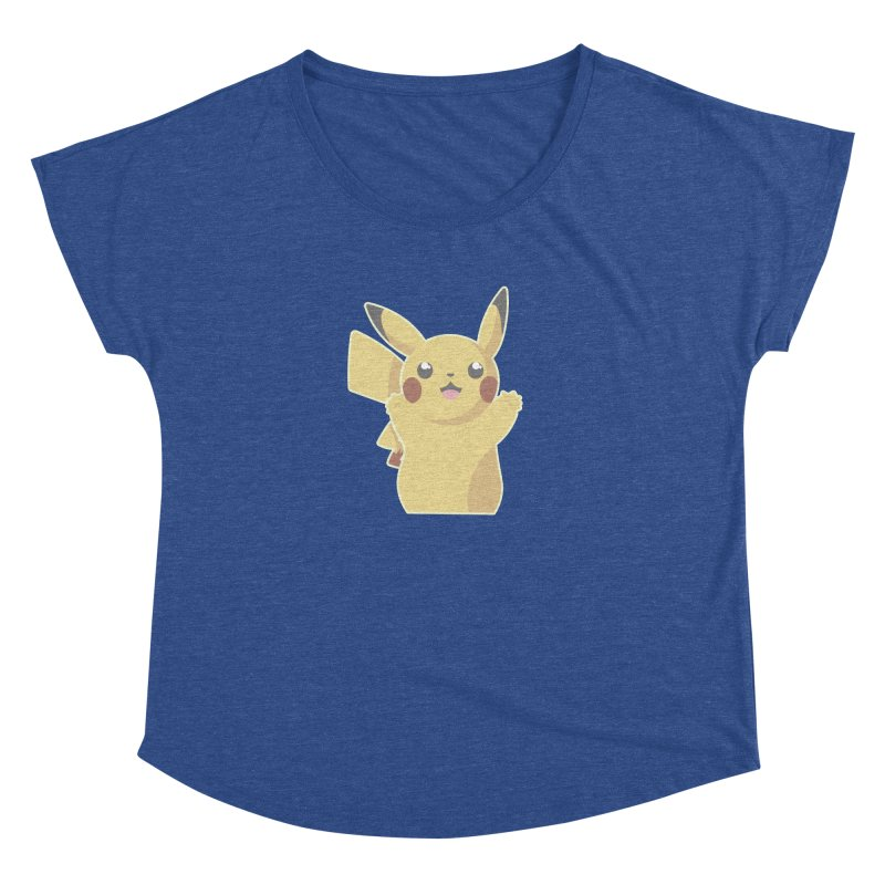 Let's Go Pikachu Pokemon Women's Dolman Scoop Neck by jaredslyterdesign's Artist Shop
