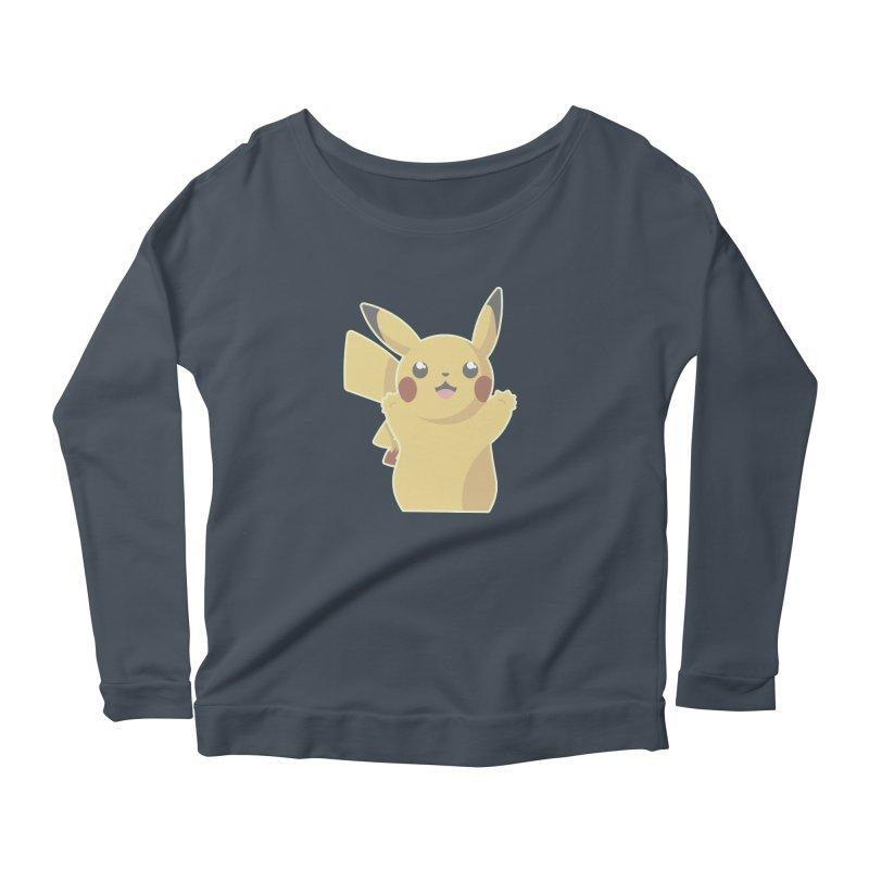 Let's Go Pikachu Pokemon Women's Scoop Neck Longsleeve T-Shirt by jaredslyterdesign's Artist Shop